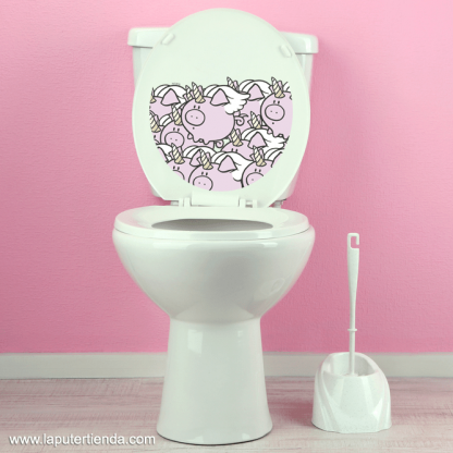 Pegatina tapa wc cerdicornio