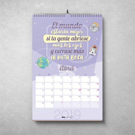 Calendario Puterful Abril