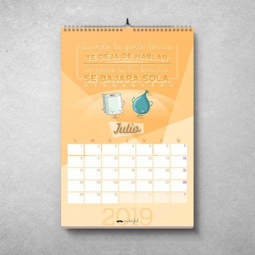 Calendario Puterful Julio