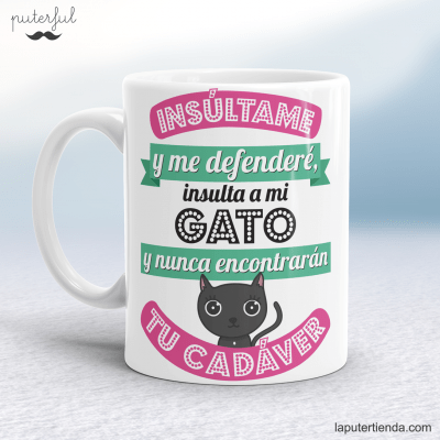 Taza gato Puterful