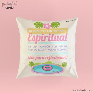 Cojín retiro espiritual Puterful