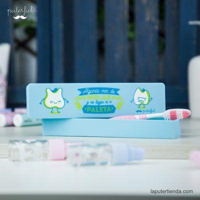 Estuche cepillo de dientes azul