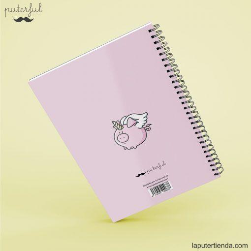 Cuaderno Puterful trasera