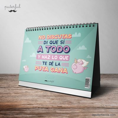 Calendario sobremesa Puterful