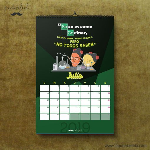Calendario Puterful Julio