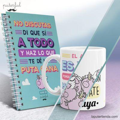 Pack agenda y taza