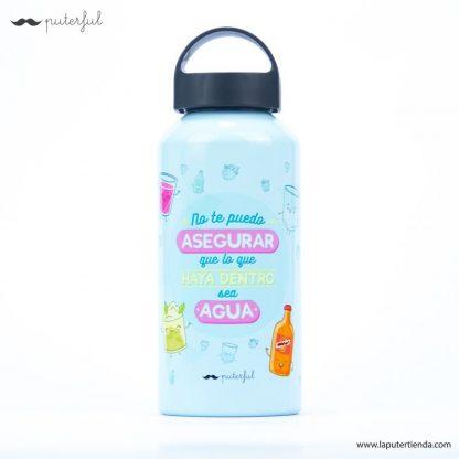 Botella de aluminio con mensaje divertido