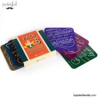 Pack 6 posavasos imantados Puterful para nevera