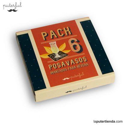 Pack 6 posavasos imantados nevera