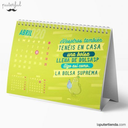 Calendario de sobremesa 2020 - puterful