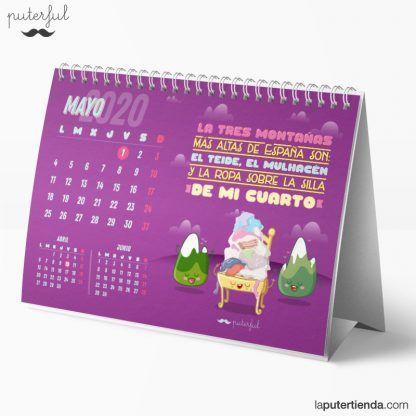Calendario de sobremesa 2020 - puterful
