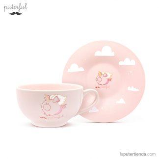 nueva puterful taza plato