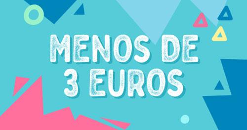 Categoría de productos Menos de 3 euros