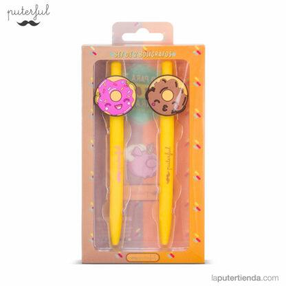 Set bolígrafos rosquillas