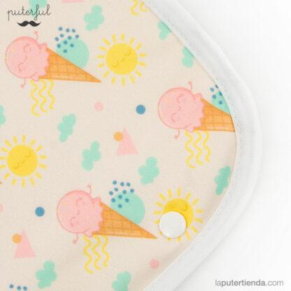 Cambiador para bebés Puterful - helado