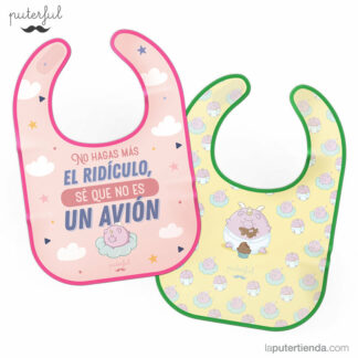 Pack Duo baberos bebé Cerdicornio Avion