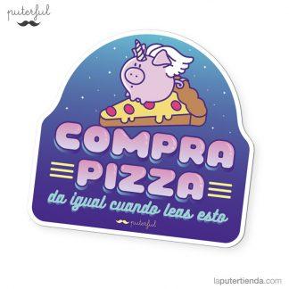 Imán frigorífico compra pizza