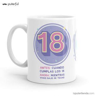 taza 18 cumpleaños puterful