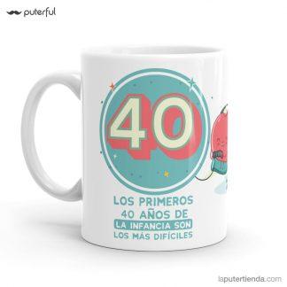 taza 40 cumpleaños puterful