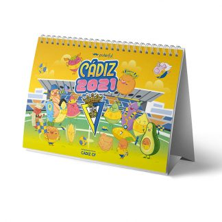CALENDARIO SOBREMESA 2021 CADIZ CF PUTERFUL
