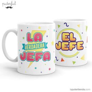 Pack de tazas Puterful Jefa y Jefe