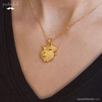 Colgante Cerdicornio Gold - mujer
