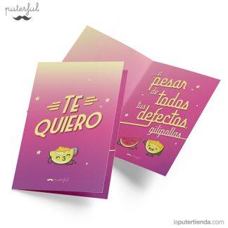 Tarjeta San Valentín - Te quiero