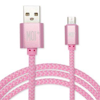 MOI Cable micro USB Rosa