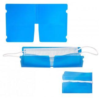 MOI* Funda mascarillas papel azul