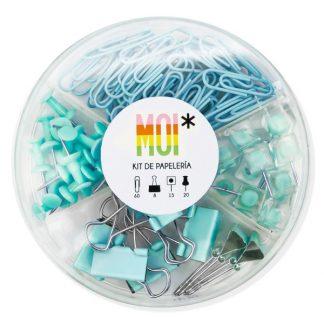 MOI Kit papelería - Azul
