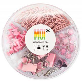 MOI Kit papelería - Rosa