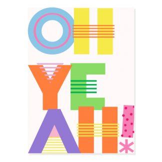 MOI* Party tarjeta de felicitación Oh Yeah