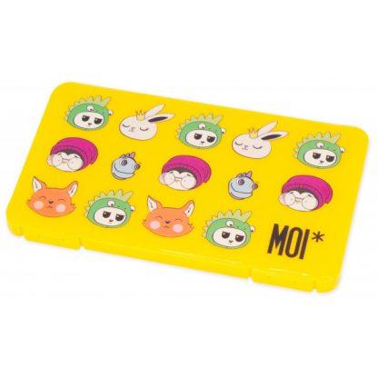MOI* Safe Caja para mascarillas rectangular amarilla