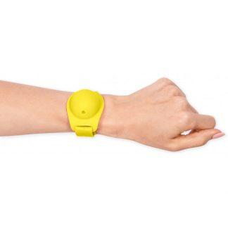 MOI* Safe Pulsera dispensadora amarilla