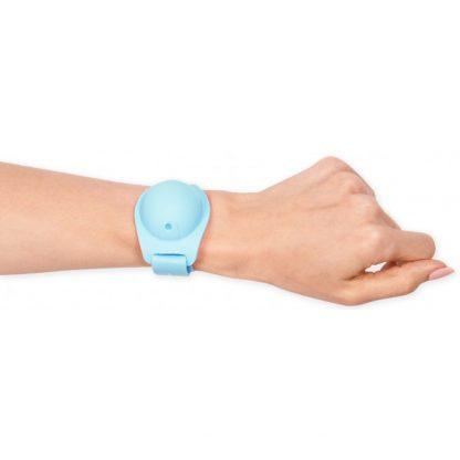 MOI* Safe Pulsera dispensadora azul