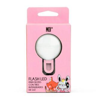MOI* Selfie light redondo rosa