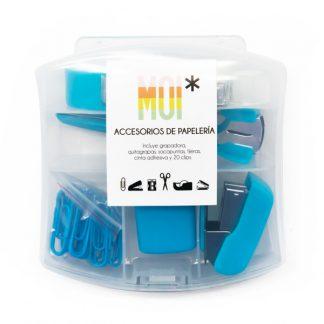 MOI Set Papelería Azul