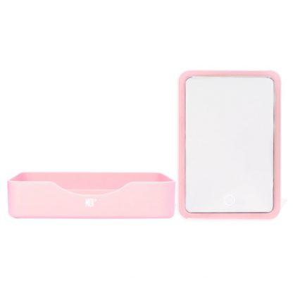 MOI espejo rectangular con Led - Rosa