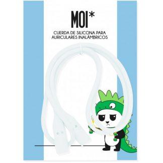 MOI* cuerda de silicona para auriculares inalámbricos translucido