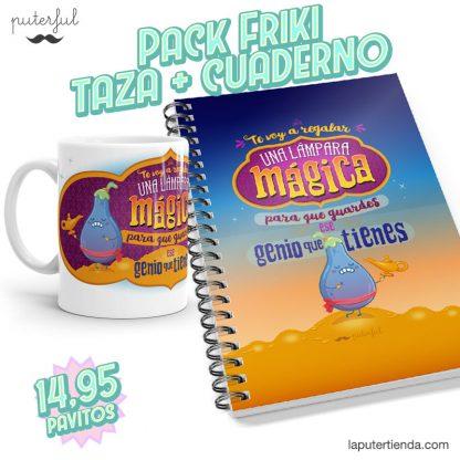 PACK FRIKI - Taza + Cuaderno - Te voy a regalar una lámpara
