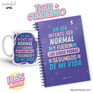 Pack Taza + Cuaderno - Un día intenté ser normal