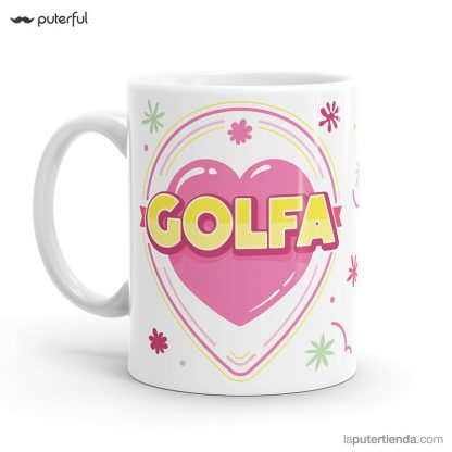 taza insulto puterful golfa