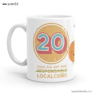 taza 20 cumpleaños Puterful