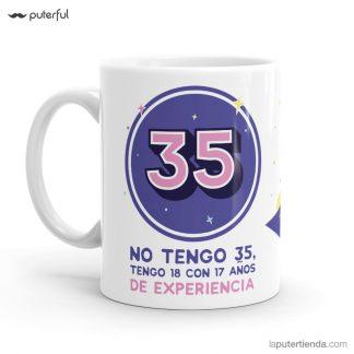 taza 35 cumpleaños puterful